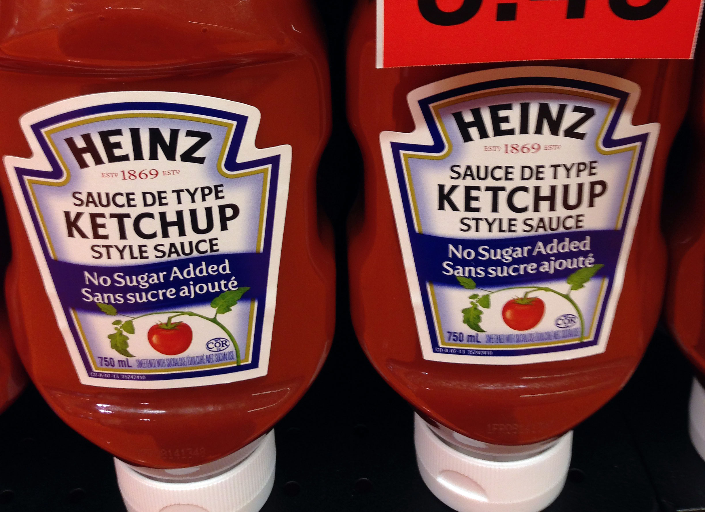 Heinz sugar free ketchup nutrition facts
