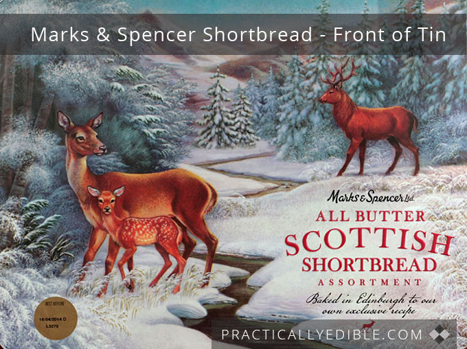 Marks and Spencer Scottish Shortbread front of tin