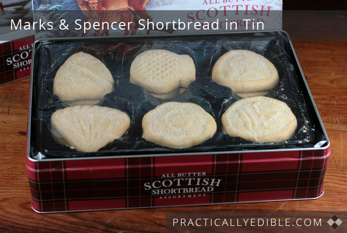 Marks & Spencer Scottish Shortbread inside tin