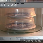 Two level microwave cooking