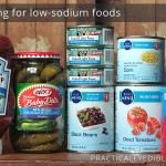 Low-sodium food products